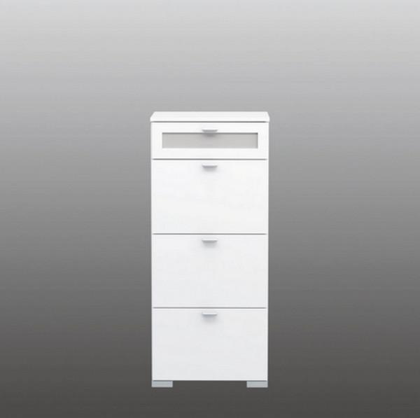GIRONA weiß - Abverkauf--Kommode schmal hoch-25170-1
